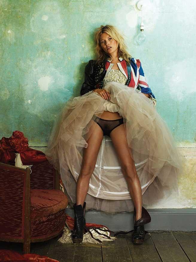 Kate Moss para Mario Testino