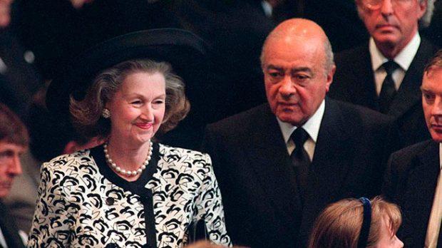 Reine Spencer y Mohammed Al Fayed