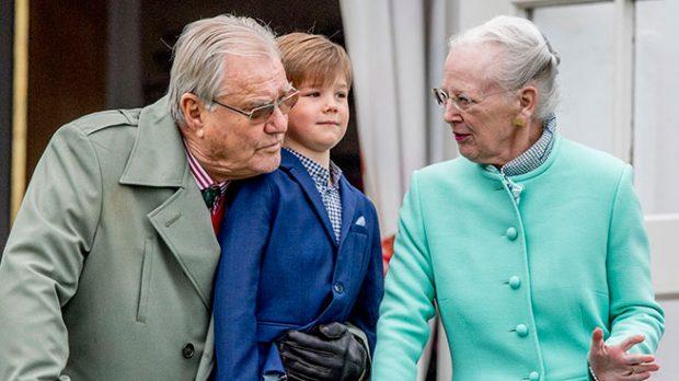 La reina Margarita y el príncipe Henrik