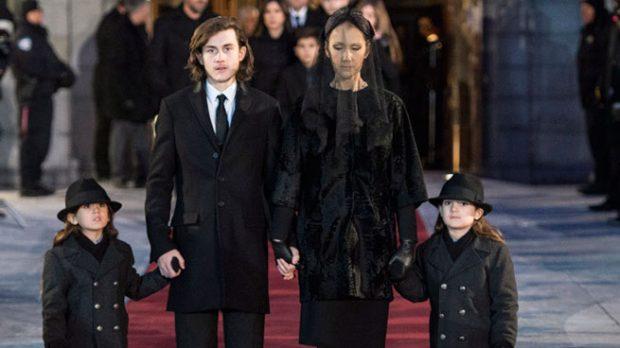 Céline Dion y sus hijos