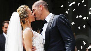 Victor Valdes y la modelo Yolanda Cardone se casan en Barcelona / GTRES