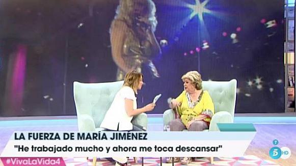 María Jiménez durante su entrevista con Toñi Moreno /Gtres