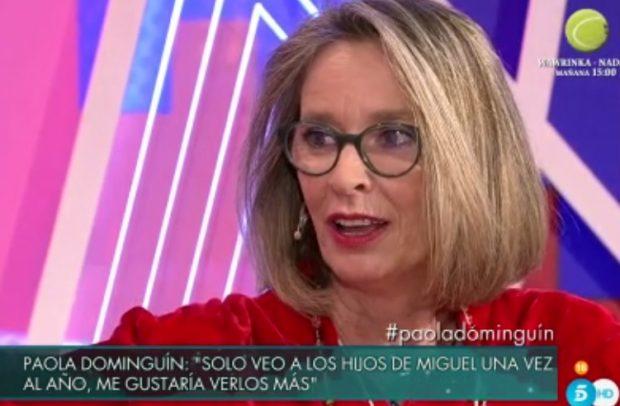 Paola Dominguín durante su entrevista del 'Deluxe' /Telecinco