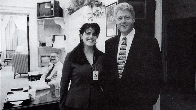 Monica Lewinski y Bill Clinton