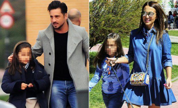 El cantante y la actriz con su hija en diferentes ocasiones