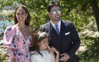 Paula, David y Daniela durante la celebración de la comunión /Gtres