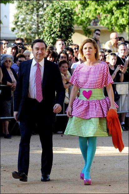 Ágatha Ruiz de la Prada y Pedro J. Ramírez