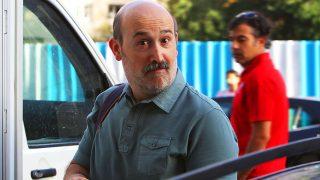 El actor Javier Cámara durante un rodaje en Madrid / Gtres