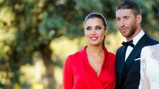 Pilar Rubio y Sergio Ramos durante la boda de Vania Millán y René Ramos / Gtres