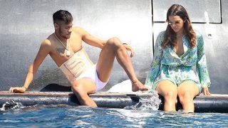 Neymar y Bruna Marquezine  durante unas vacaciones en 2014 / Gtres