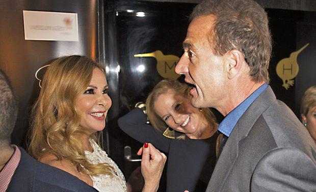 La actriz Ana García Obregón y Alessandro Lequio