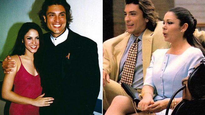 Osvaldo Ríos con Shakira y con Isabel Pantoja