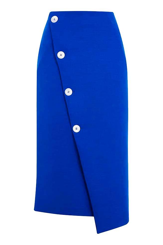 Falda midi asimétrica 26 euros / Topshop