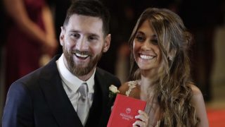 Messi y Antonela el día de su boda /Gtres