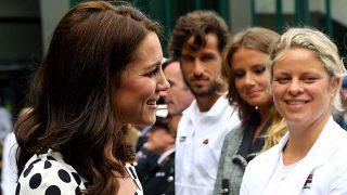 Kate Middleton y Feliciano López en la recepción de Wimbledon 2017 / Gtres