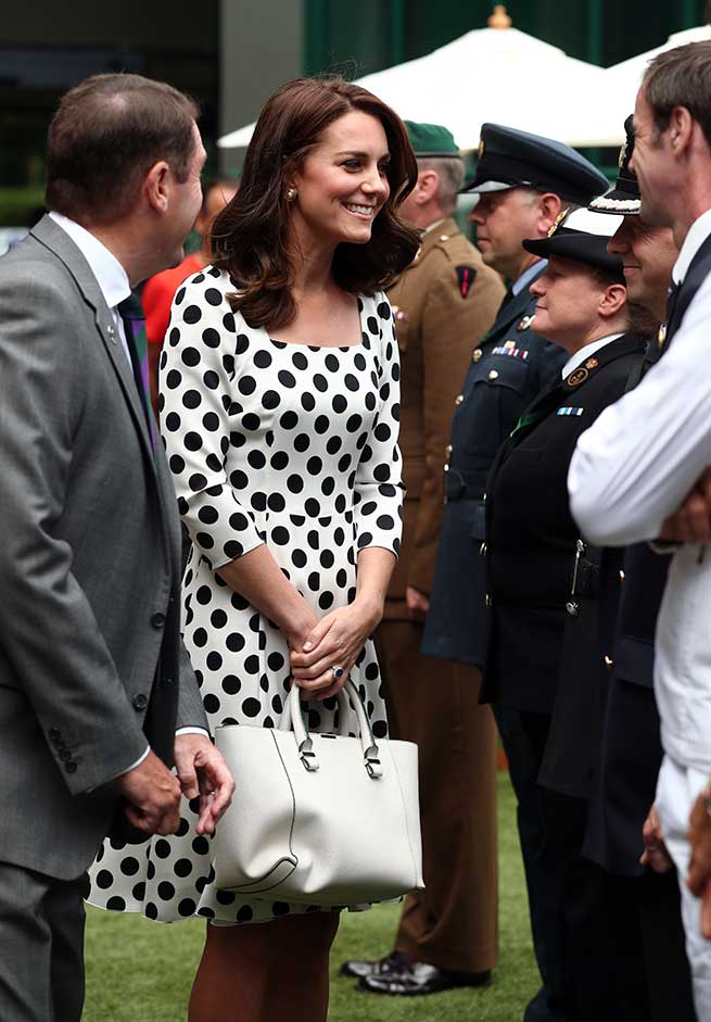 Kate Middleton Vestido Lunares Tendencia