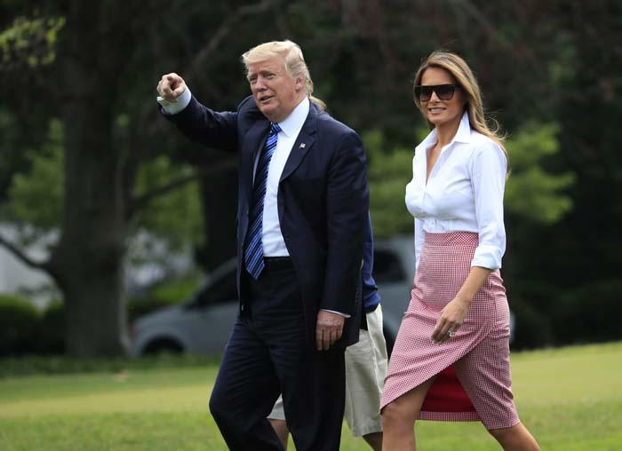 Tendencias Falda Vichy Melania Trump Altuzarra