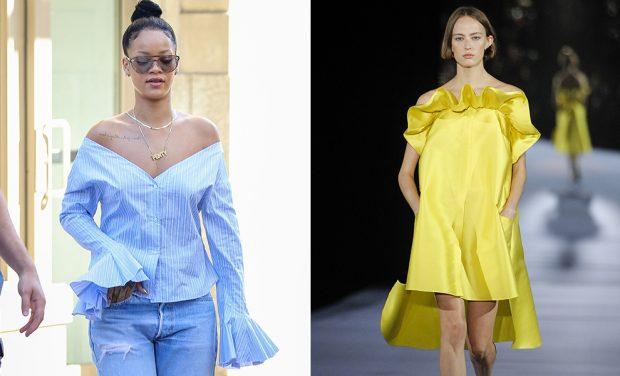 Volantes y colores frescos en Rihanna y en pasarela
