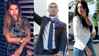 Montaje Cristiano Ronaldo, Marisa Mendes y Georgina Rodríguez / Gtres