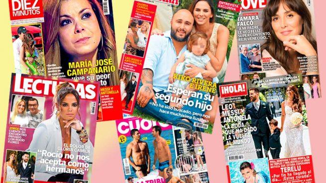 Kiko Rivera, Leo Messi y Terelu Campos, protagonistas de los quioscos del miércoles