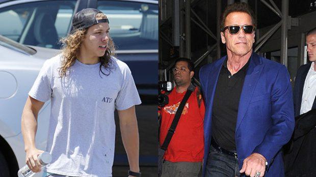 Arnold Schwarzenegger y su hijo Joseph Baena