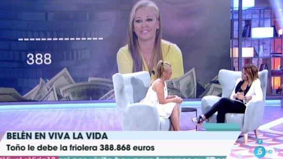 Belén Esteban estalla contra Toño Sanchís en 'Viva la vida'