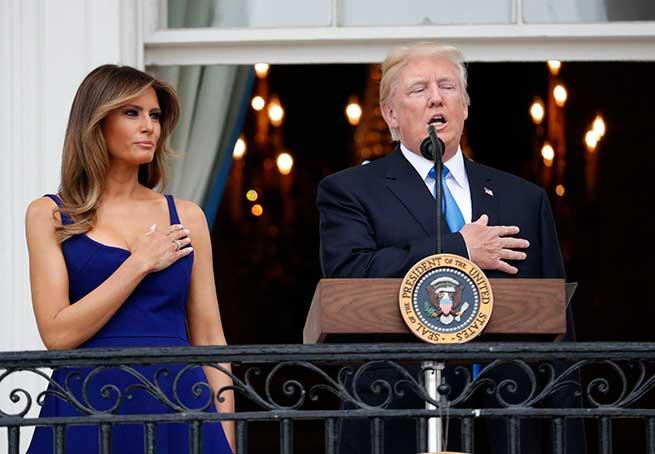 Melania y Donald Trump