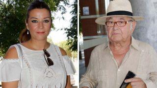 La cantante Erika Leiva y el diseñador Toni Benítez a su llegada al tanatorio / Gtres