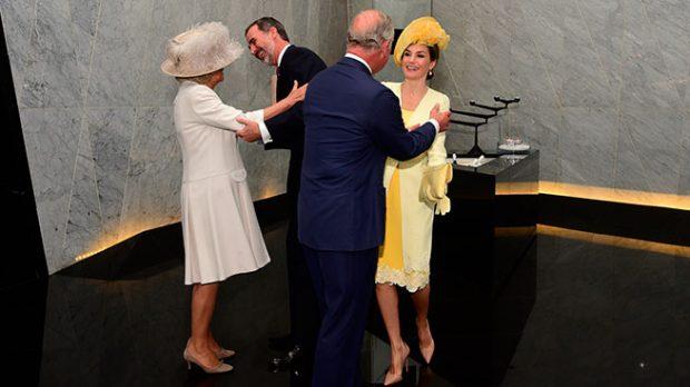 Los Reyes de España con Carlos de Inglaterra y Camilla Parker