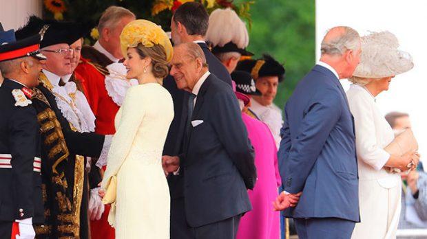 Doña Letizia y el Duque de Edimburgo