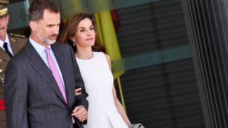Los Reyes a su salida de Madrid / Gtres