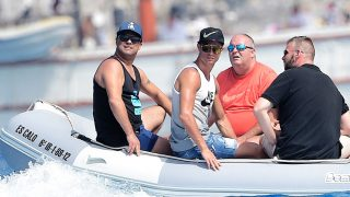 Ronaldo en sus vacaciones en Formentera / Gtres