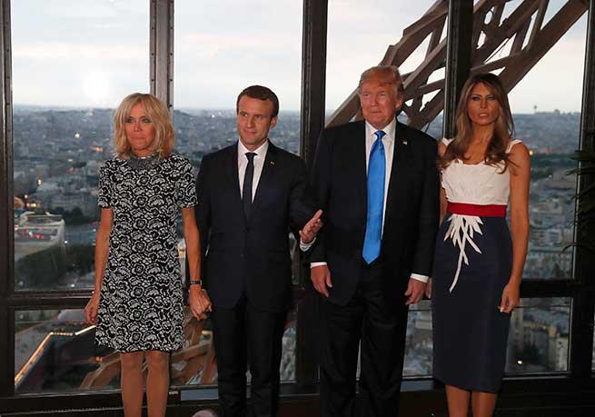 Brigitte y Emmanuel Macron con Donald y Melania Trump / Gtres