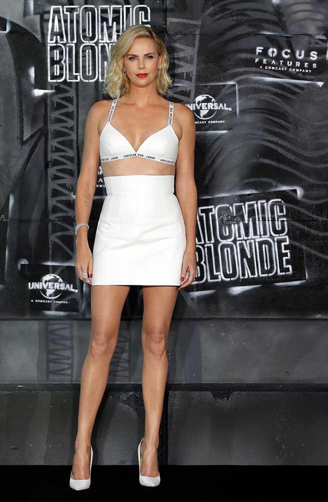 Charlize, durante la presentación de 'Atomic Blonde' / Gtres