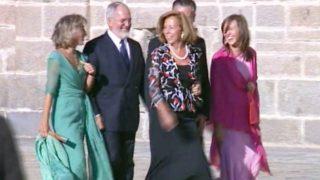 Miguel Blesa junto a su primera mujer y su hija Cus llegando a la boda de Ana Aznar /LOOK (PINCHAR EN IMAGEN PARA VER GALERÍA)