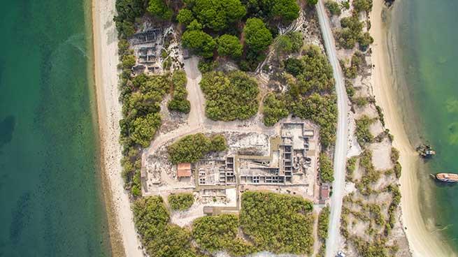 Vista aérea de Troia