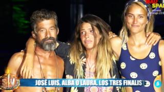 José Luis, Laura Matamoros y Alba Carrillo /Mediaset