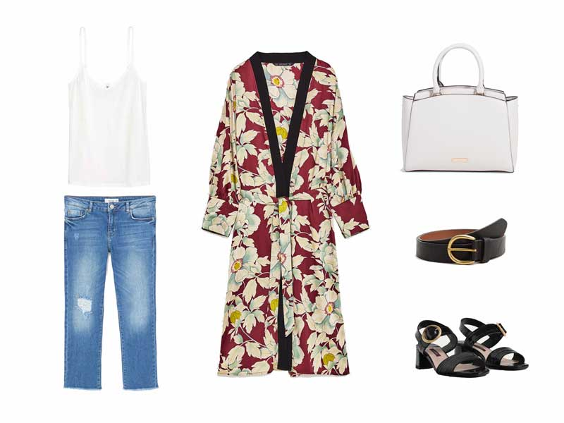 como llevar kimono