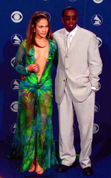 "Jennifer López y Sean ""Diddy"" Combs"