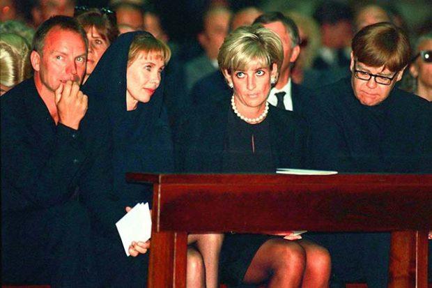 Diana de Gales y Elton John