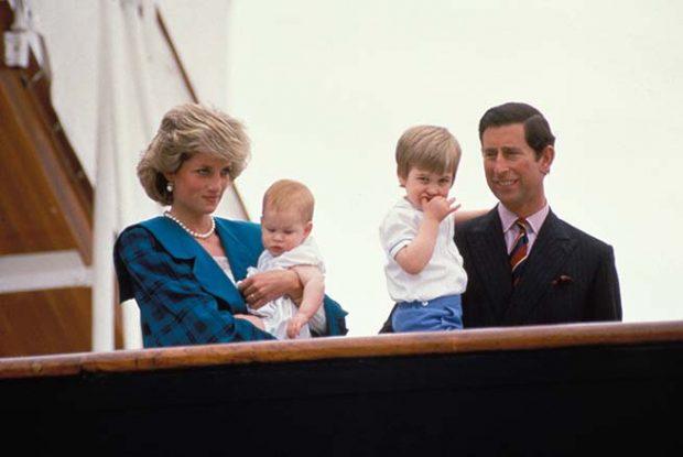 Los príncipes de Gales y sus hijos