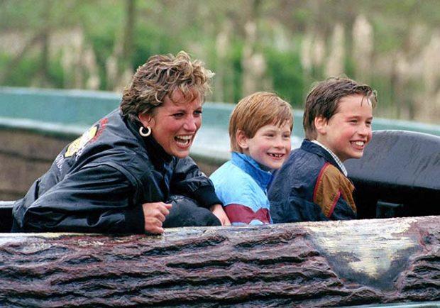 Diana de Gales y sus hijos