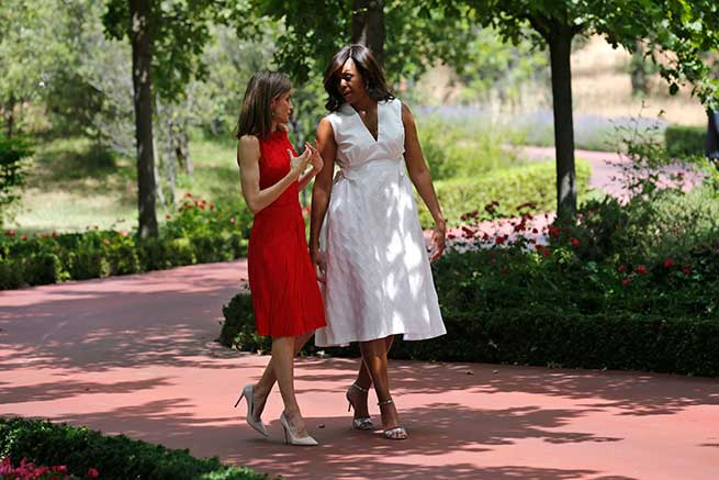 Michelle Obama y Letizia / Gtres