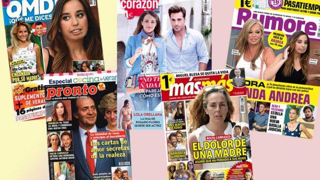 Andrea Janeiro, Paula Echevarría, Rocío Carrasco