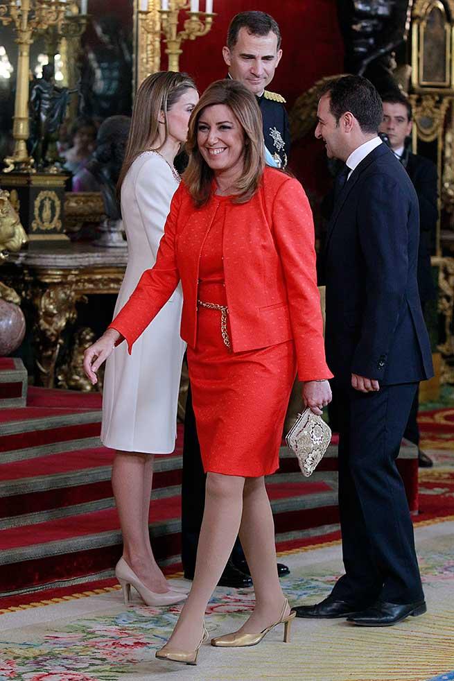 Susana Díaz, durante la proclamación de Felipe VI / Gtres