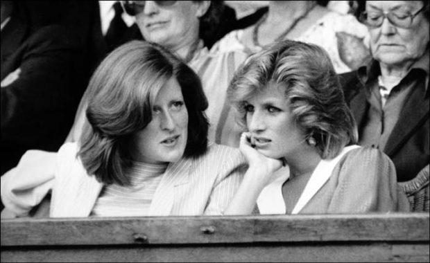 Diana de Gales con su hermana
