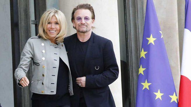 Brigitte Macron y Bono / Gtres