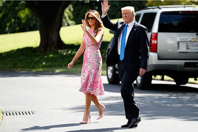 Donald y Melania Trump en Ohio / Gtres