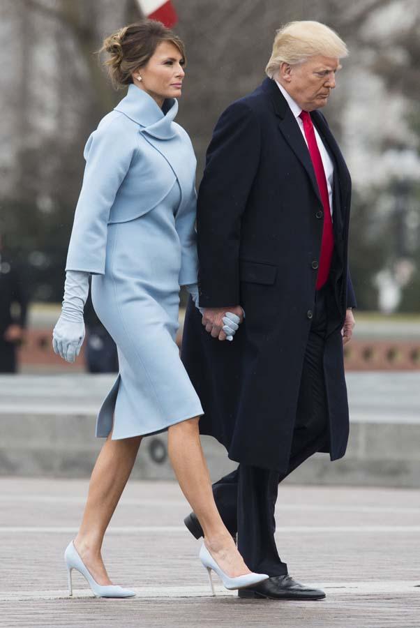 Melania en la toma de posesión del Presidente con un diseño de Ralph Lauren / Gtres