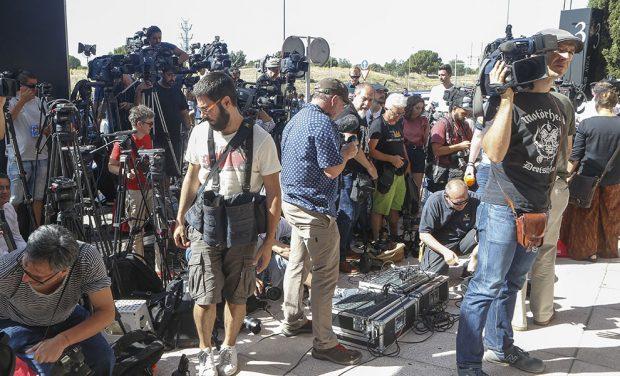expectación máxima de la prensa en los juzgados de Pozuelo de Alarcón